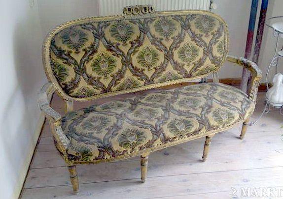 Vintage Barok Bankje.Barok Bankje Cadeiras