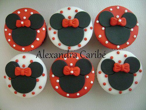 Cupcakes Minnie Vermelha Minnie Mouse Cupcakes Cup
