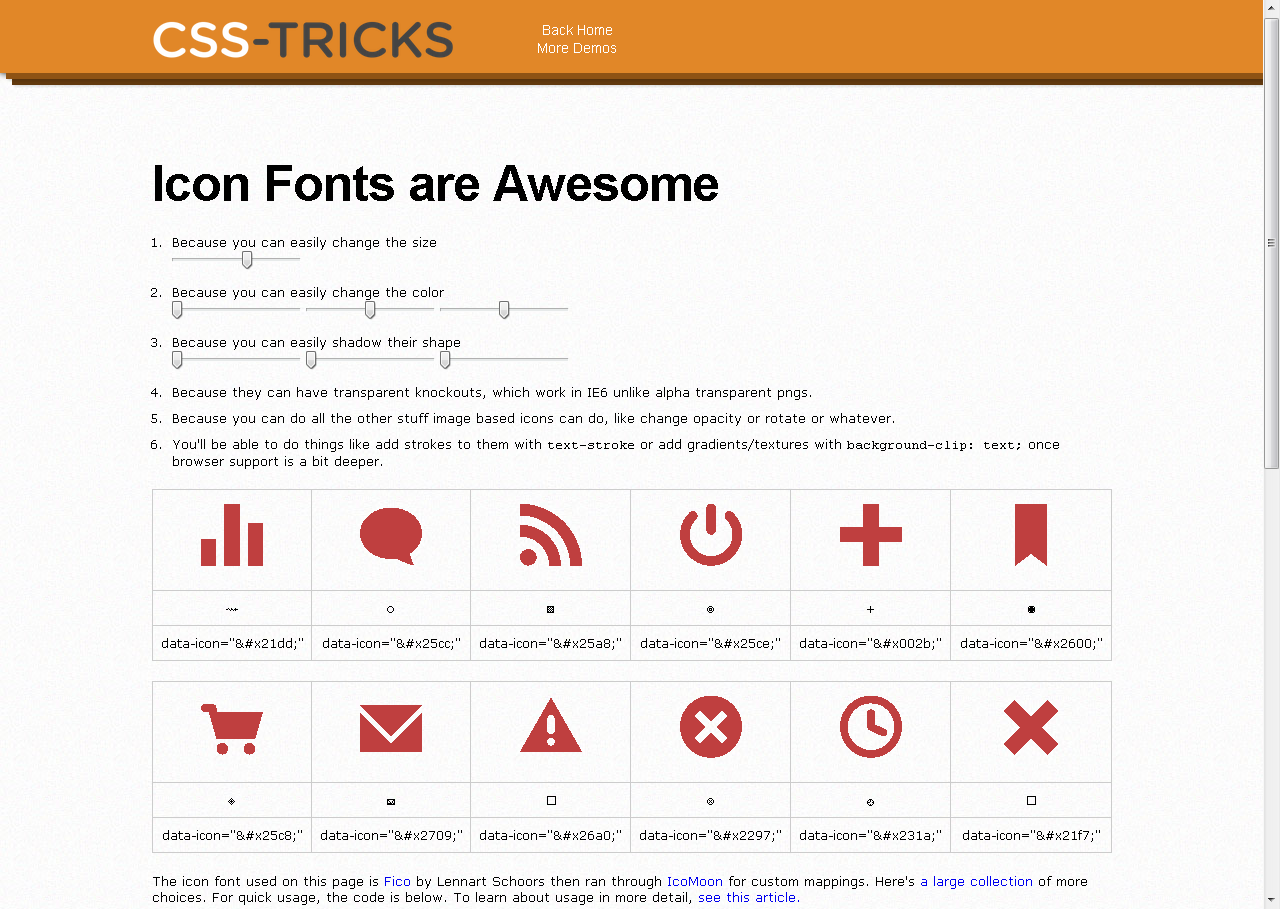 Icon Fonts are Awesome
