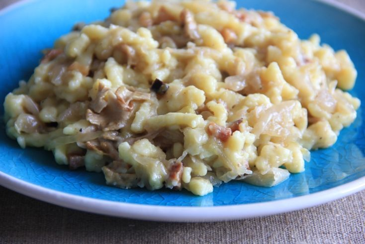 Photo of FOTORECEPT: Gnocchi with sour cabbage and mushrooms