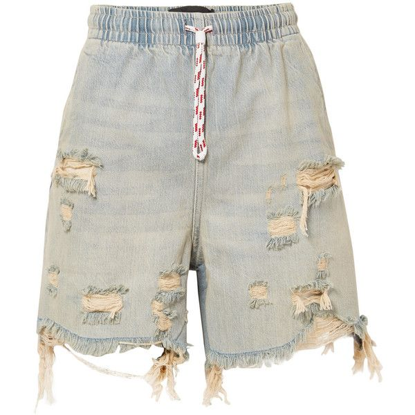 ad9e49cef52 Alexander Wang Distressed denim shorts ( 325) ❤ liked on Polyvore featuring  shorts