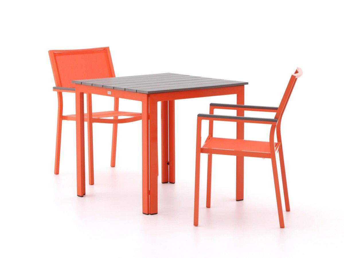 Gartenmöbel Set Aus Aluminium Und Polywood In Der Farbe Orange