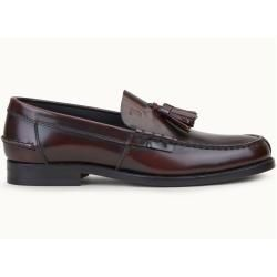 Photo of Tod's – leather loafers, red, 9 – shoes tod's