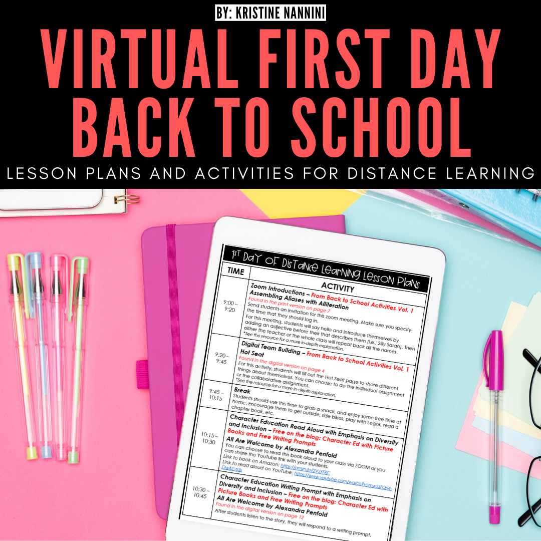 Virtual First Day Back To School Lesson Plans And Activities In 2020 School Lesson Plans High School Activities Virtual School