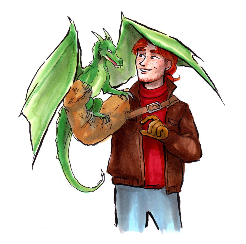 Charlie Weasley By Wispila Harry Potter Universal Harry Potter Art Drawings Harry Potter Art