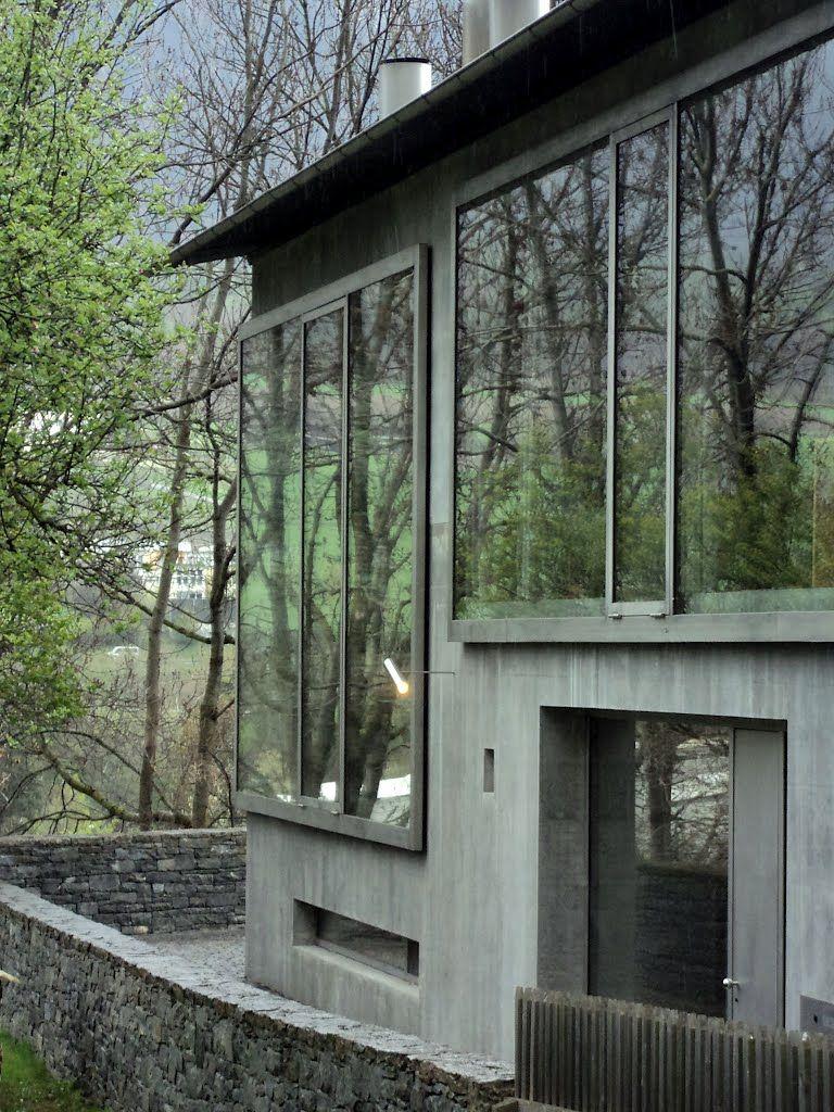 Fassaden betonarchitektur architektur details moderne häuser peter zumthor haus träumen häuser schweiz werkstatt architektur