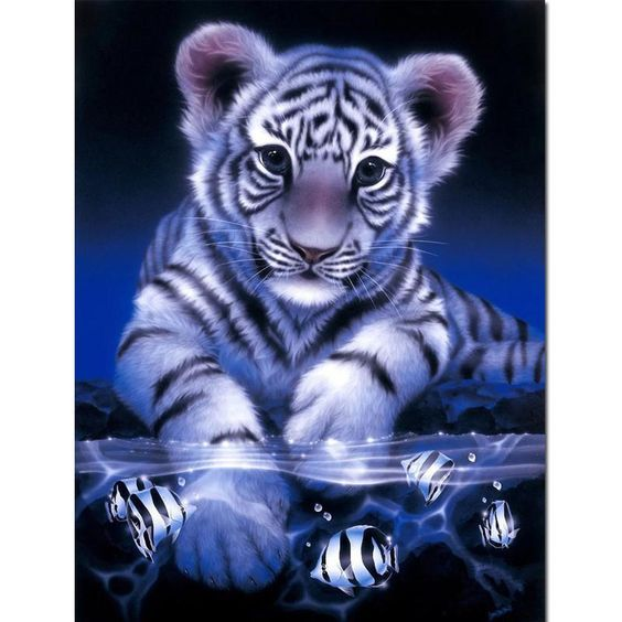 Blue tiger Picture Pattern Diamond Embroidery DIY Needlework Diamond Painting Cross Stitch Full Drill Rhinestones Painting JK176. Yesterday's price: US $6.35 (5.66 EUR). Today's price: US $6.35 (5.64 EUR). Discount: 47%.