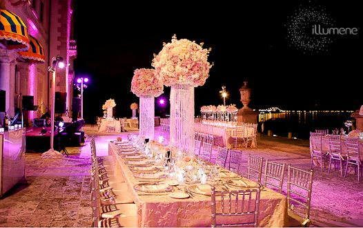 Vizcaya wedding lighting centerpieces pinspots venue pinterest vizcaya wedding lighting centerpieces pinspots junglespirit Image collections