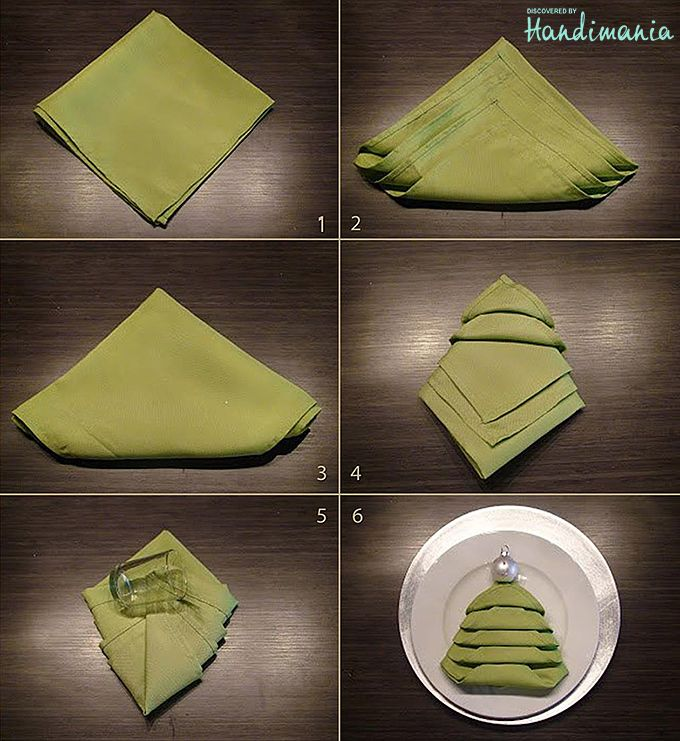 How To Fold Napkin For Christmas Table