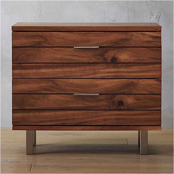 Linear Nightstand | Dresser as nightstand, Low dresser ...