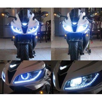 2 Hid Bi Xenon Projector Lens Light With Angel Devil Eyes Ballast