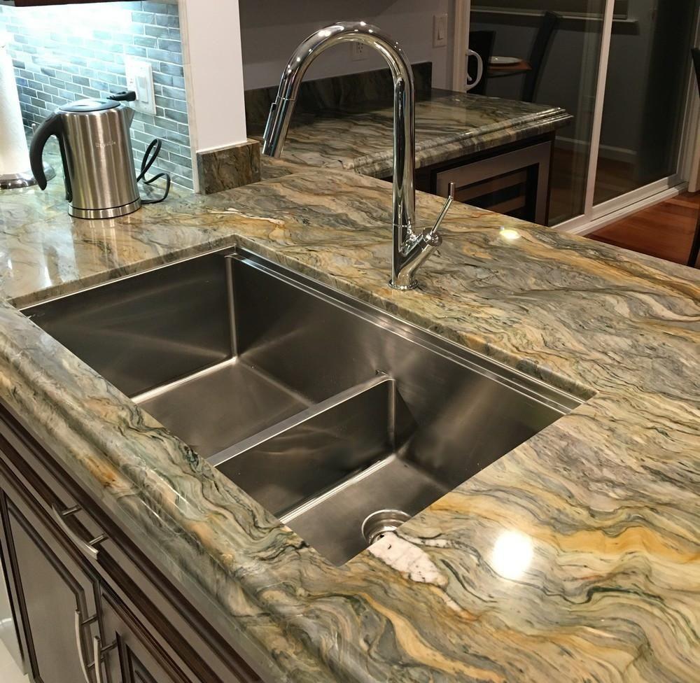 34 Ledge Sink Double Bowl Large Bowl Left 5ld34l Ledge Sink Kitchen Remodel Small Undermount Kitchen Sinks