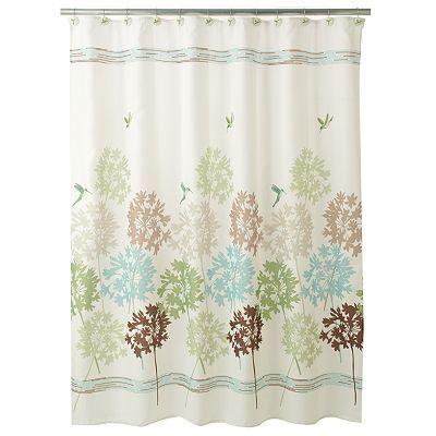 Peri Garden Pond Fabric Shower Curtain Fabric Shower Curtains