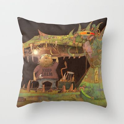 Doesn't work... Throw Pillow by baba yagada - $20.00