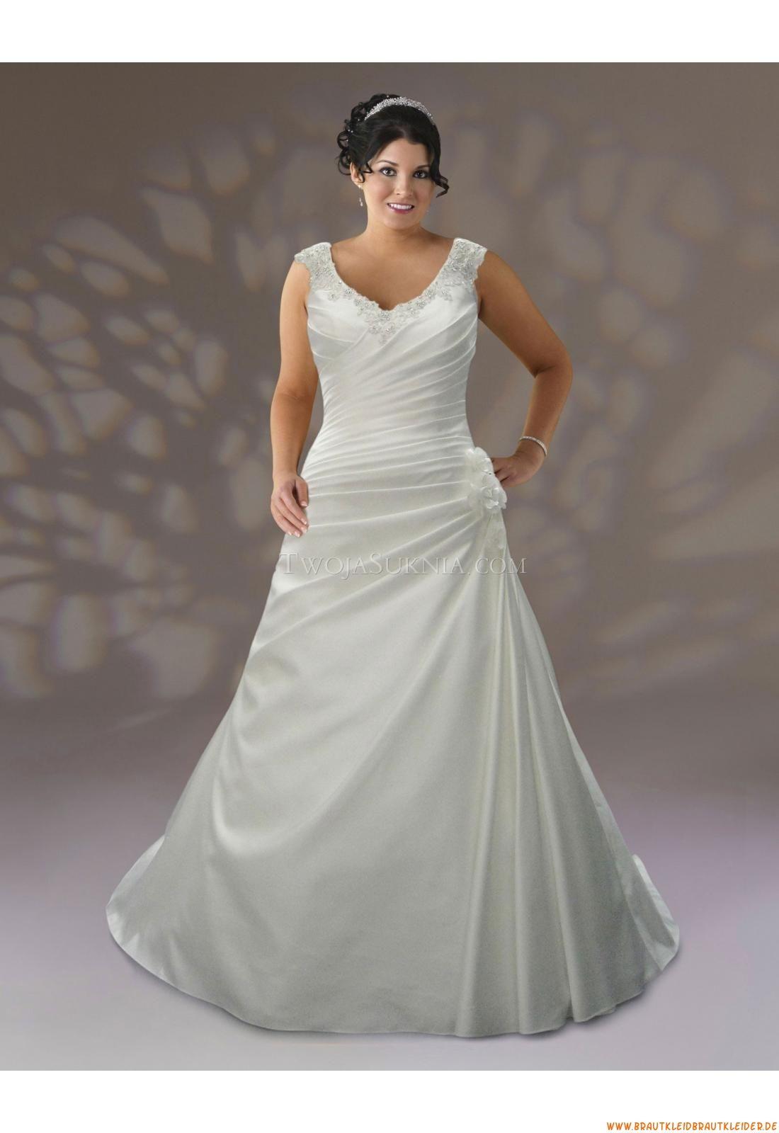 Klassisch Günstige Brautkleider | Curvy Size Hochzeit Kleider für ...