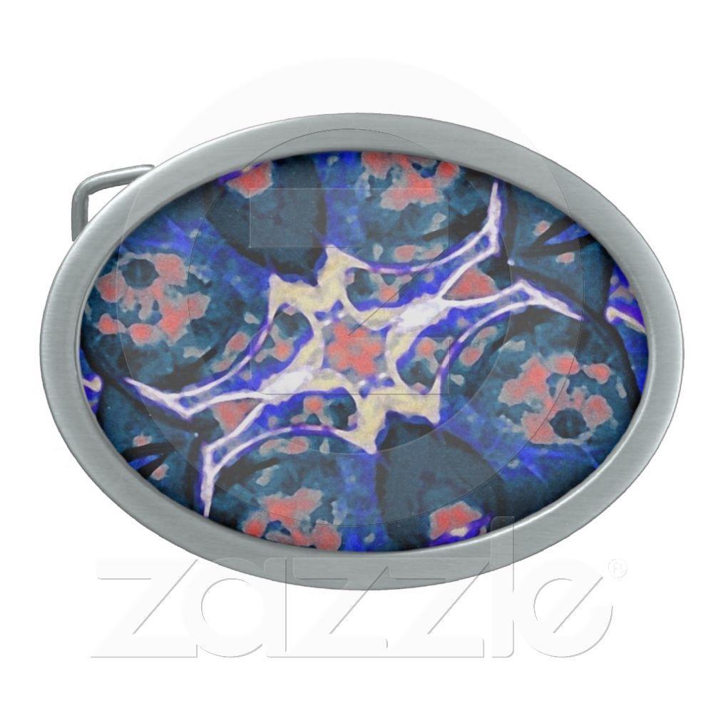 Decorative Retro Belt Buckle from Zazzle.com    decorative , blue , nature , retro , red , symmetric , female , flower , digital , elegant , decoration , women , teens , flowers , natural