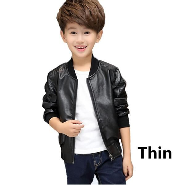 cbe78fee3a Winter Thick Velvet Kids Leather Jacket Fashion Solid Children's Warm  Outwears