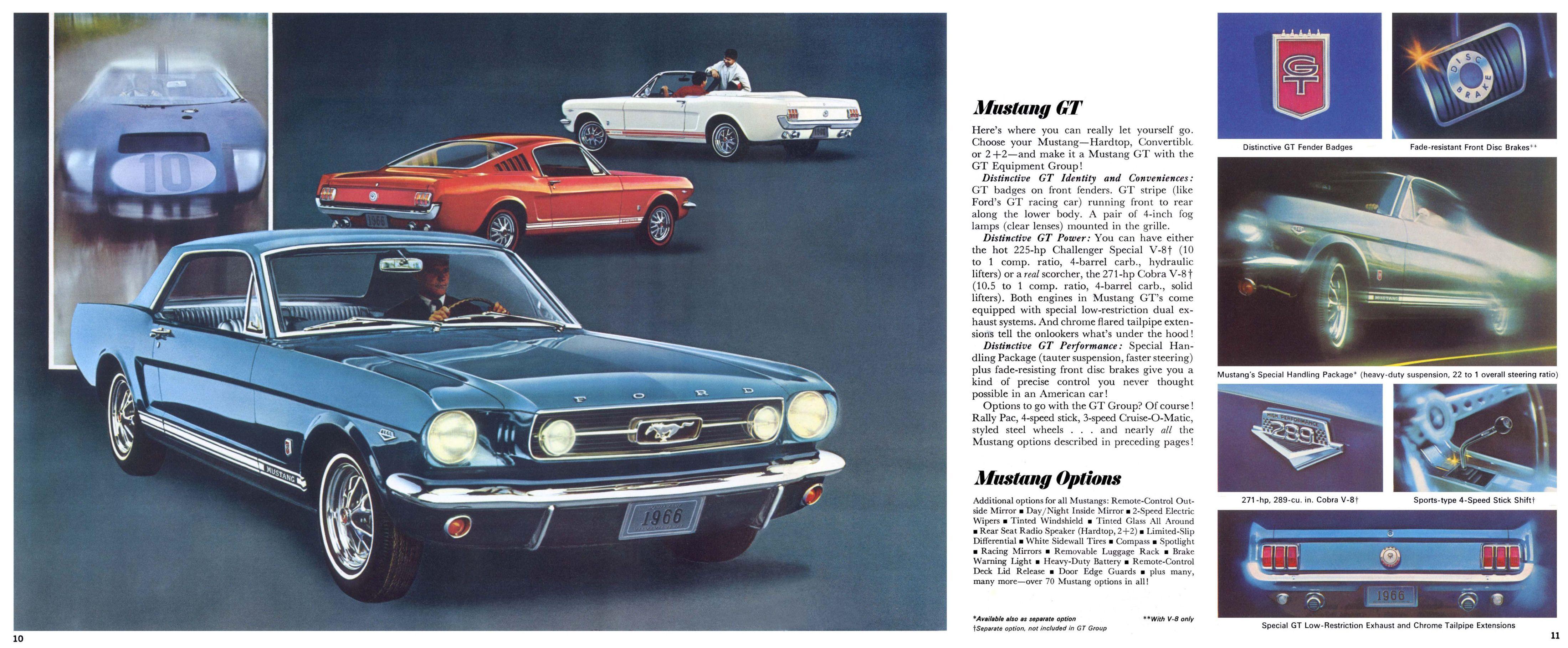 1966 Ford Mustang Brochure 1966 Ford Mustang Mustang Mustang 1966