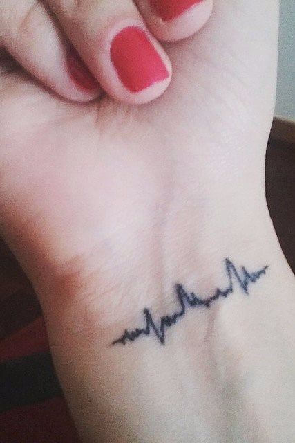 Heartbeat Tattoos Meaning : heartbeat, tattoos, meaning, Heartbeat, Tattoos, That'll, Leave, Breathless, Tattoo,, Sound, Tattoo
