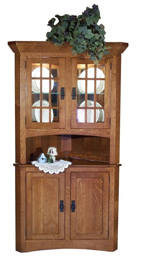 Amish Mission Supreme Corner Hutch  Corner Hutch Supreme And Corner Stunning Small Hutches Dining Room Review