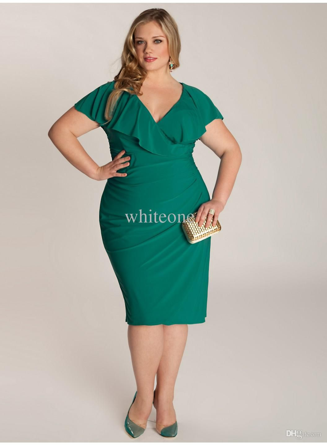 Cheap Cap Sleeve Prom Dress - Discount Amaranth Plus Size Dresses V ...
