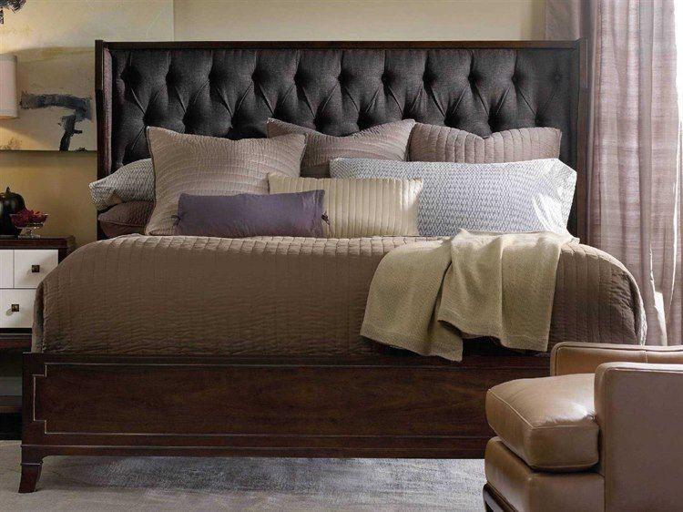 Photo of Hooker Furniture Palisade Dark Wood King Size Shelter Panel Bed