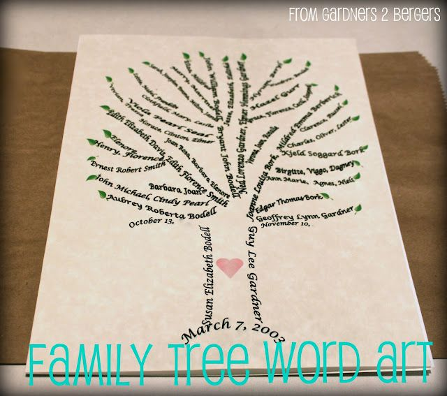 family tree word art tutorial quotes stuff pinterest diy