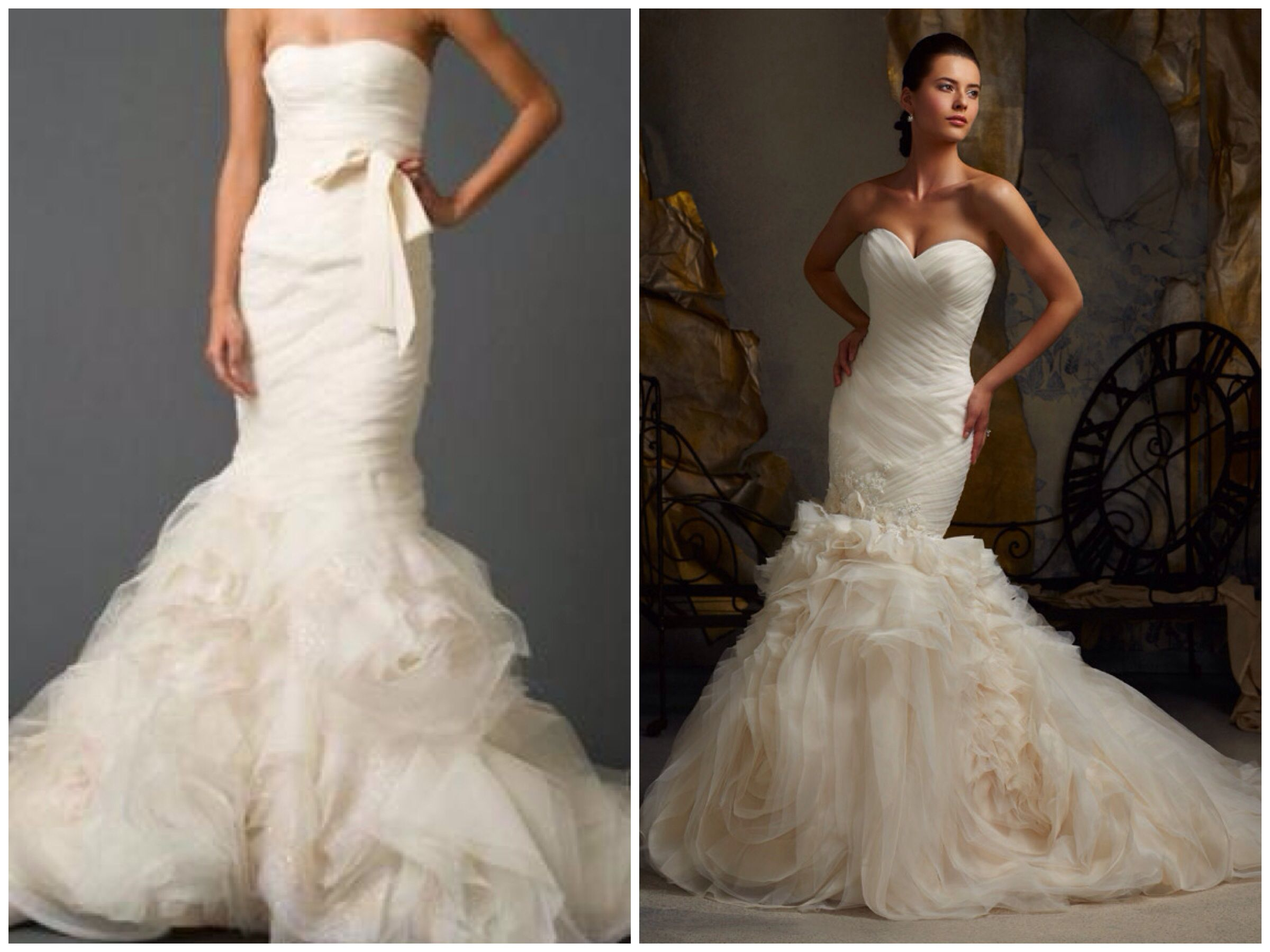 vera **** gemma wedding dress left vs mori lee blu 5104 wedding