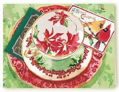 Kimberly Shaw Woodlands Tea Card - Roses And Teacups