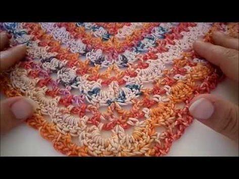 Omslagdoek Haken 45 Rechtshandig Youtube Crochet Scialli