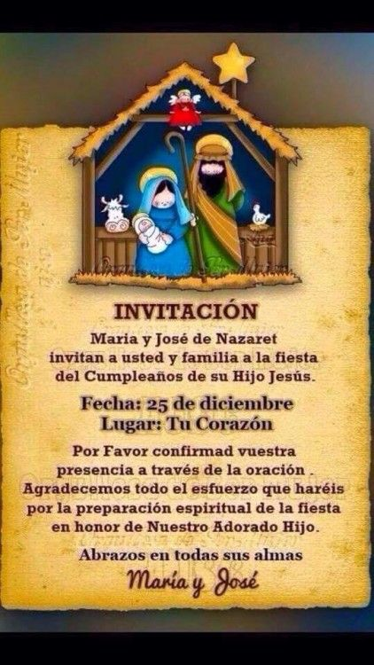Invitacion Jesus Tarjeta De Navidad Mensajes Dedicatorias