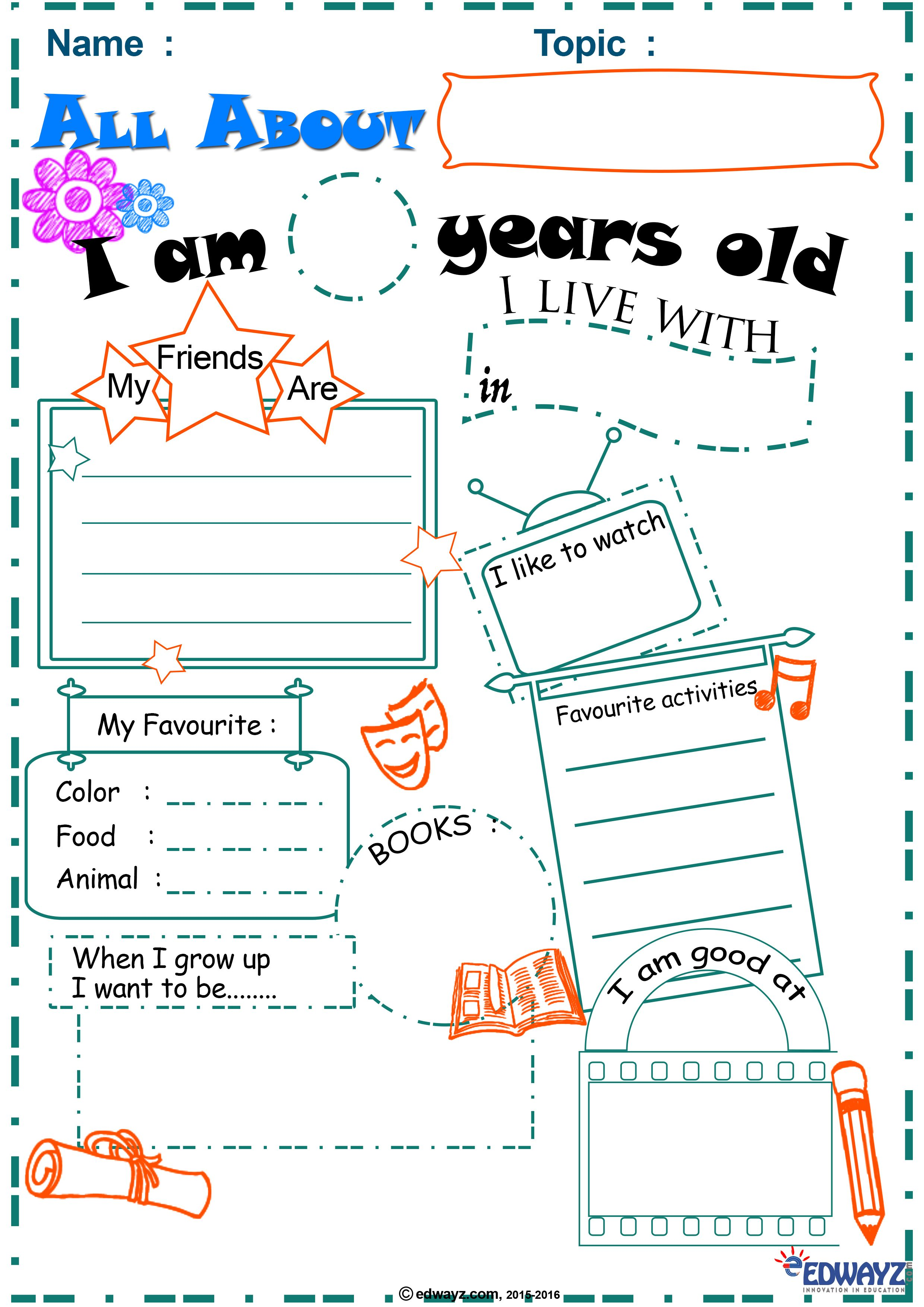 All About You Worksheets Primarykids Free Printable Worksheets When I Grow Up Printable Worksheets