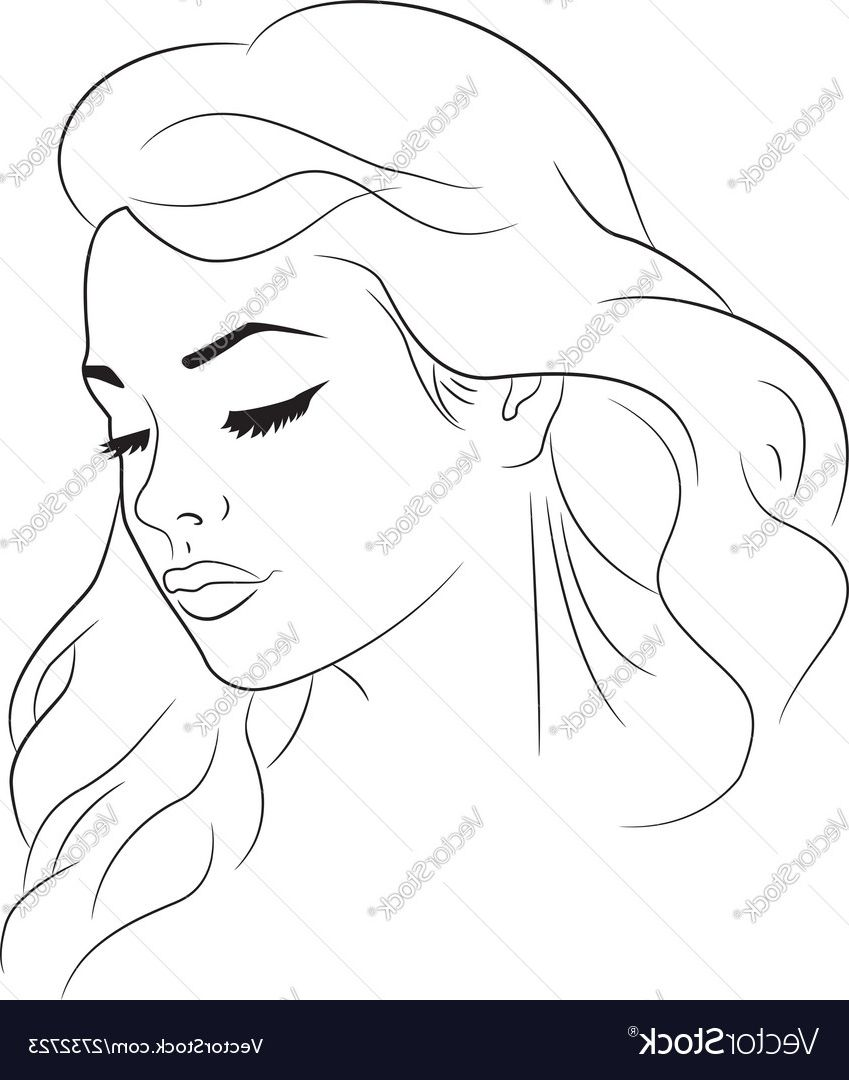Face Outline Drawing Female Face Outline Drawing Face Outline Drawing How To Draw A Face Outline Outline Drawings Drawings