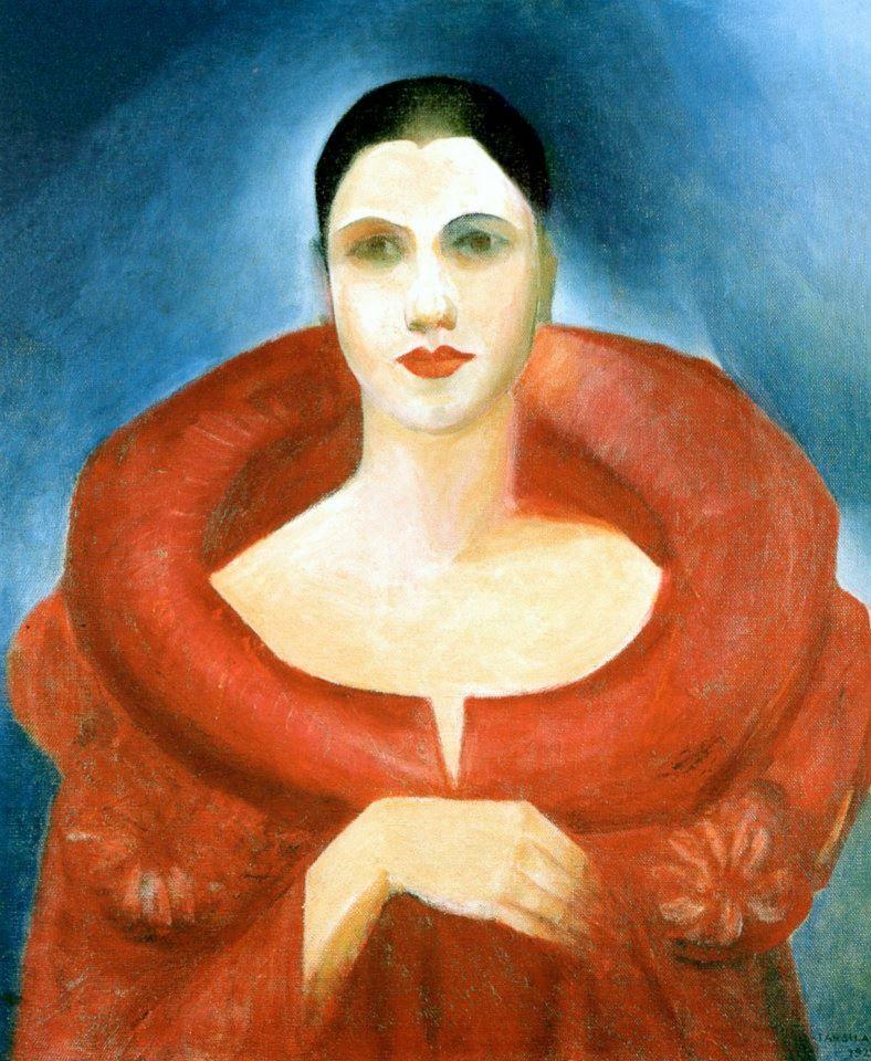 Auto Retrato Tarsila Do Amaral Manteau Rouge 1923 Tarsila Do