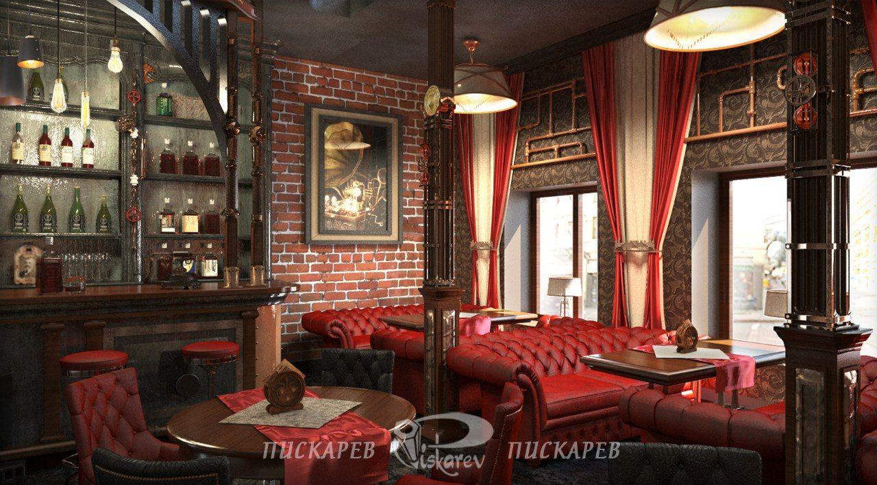 Jules Verne  Restaurant Interior Design  Steampunk Misc