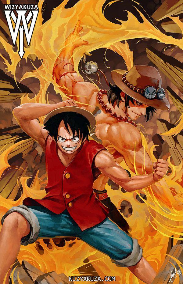 Luffy Ace by wizyakuza on DeviantArt