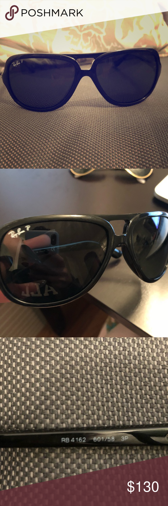 4a13dfbd9ca04 ... sunglasses cb4c4 6e3bc  get ray ban cats 5000 classic rb 4162 polarized  cats classic. black with dark green