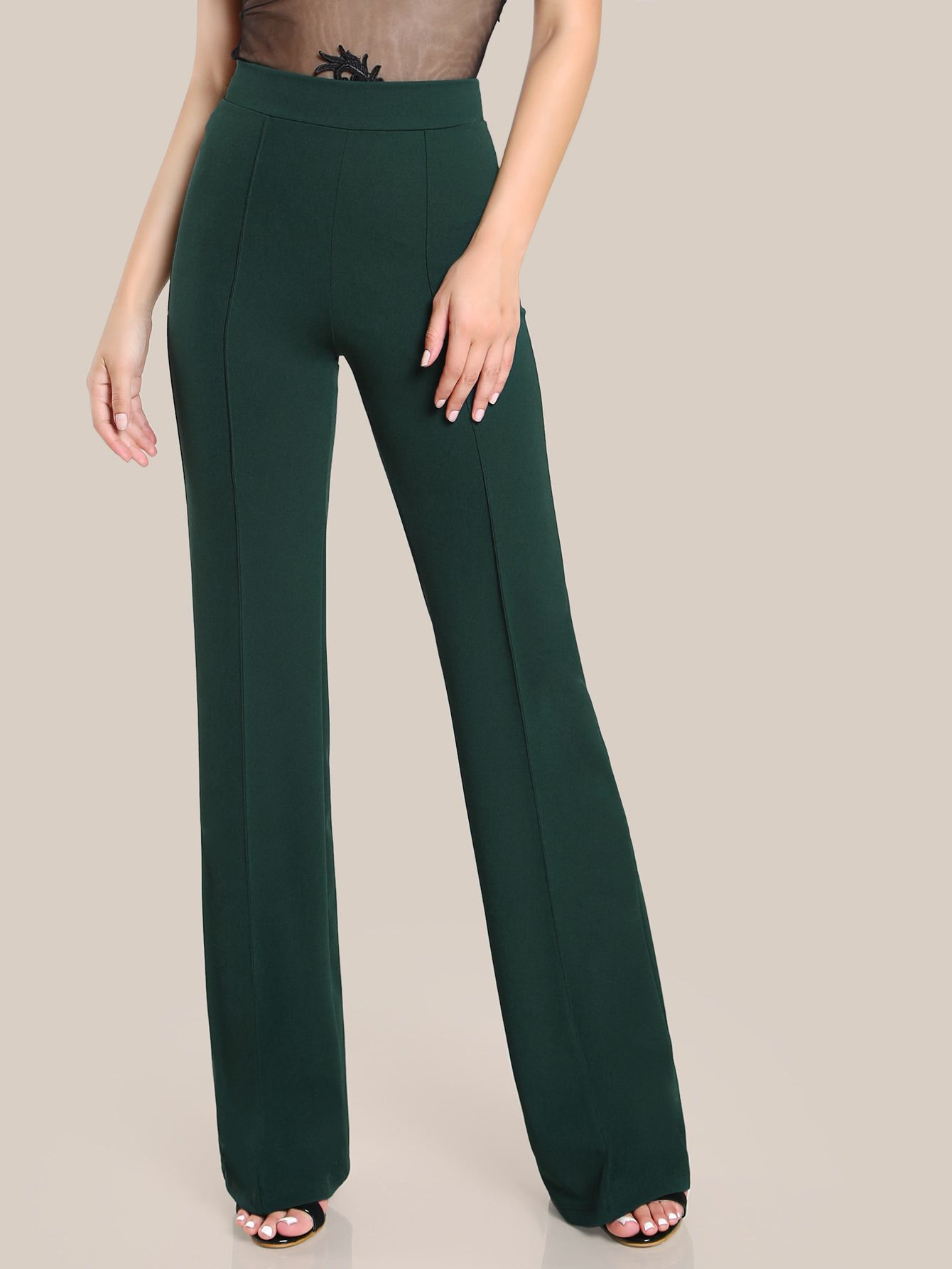 018616a833 Online shopping for High Rise Piped Dress Pants from a great selection of  women's fashion clothing & more at MakeMeChic.COM.