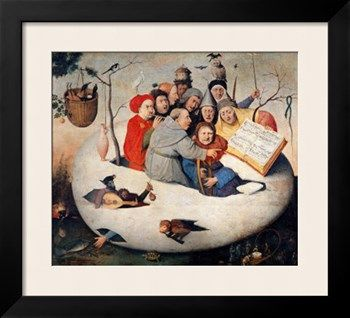 Hieronymus Bosch Art Print//Poster The Concert in the Egg