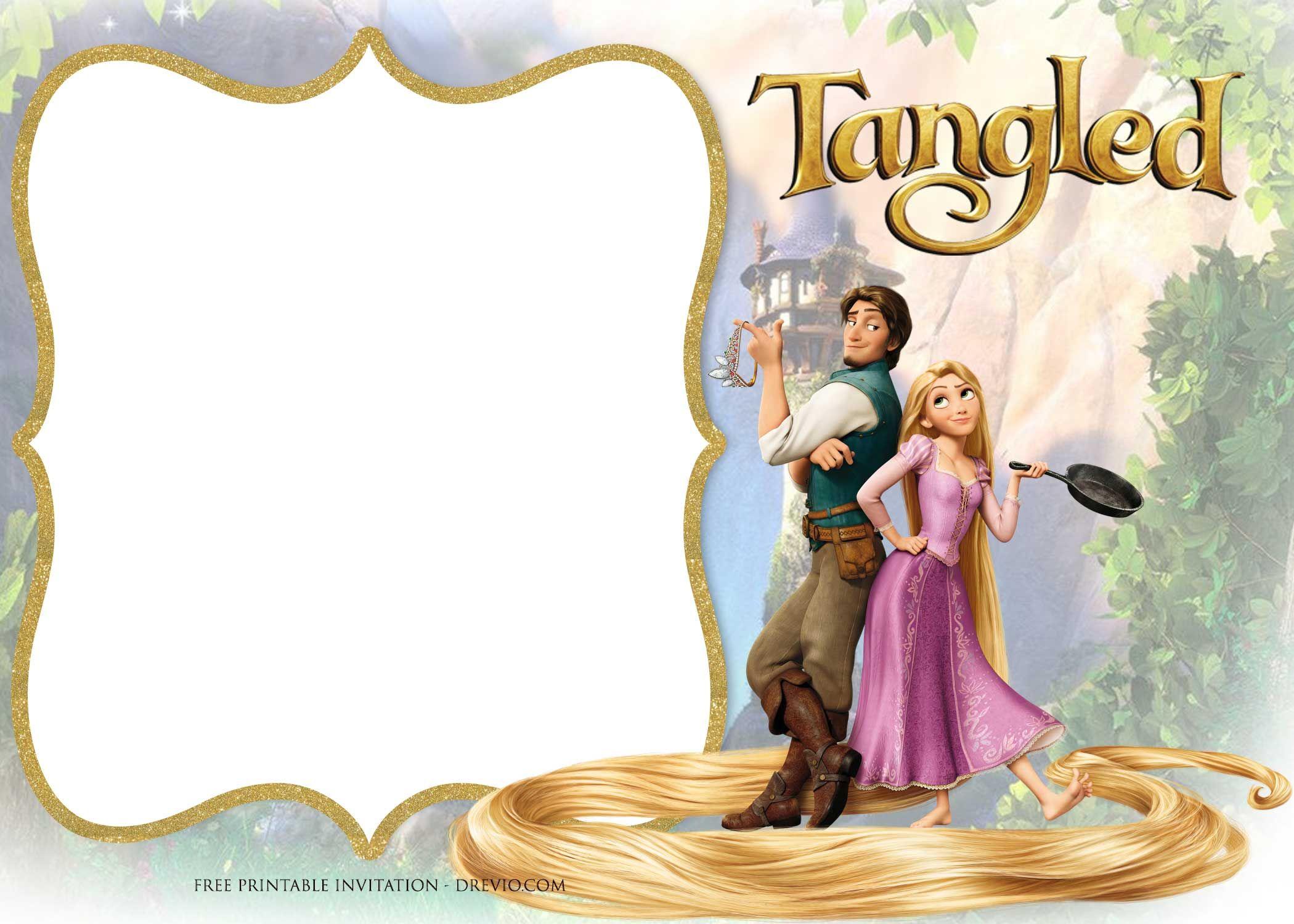 Free Printable Princess Rapunzel Invitation Templates Rapunzel Birthday Invitation Rapunzel Invitations Tangled Invitations