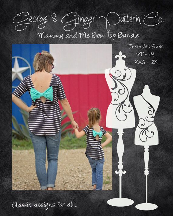 The Mommy & Me Bow Top Bundle Women's and Children's