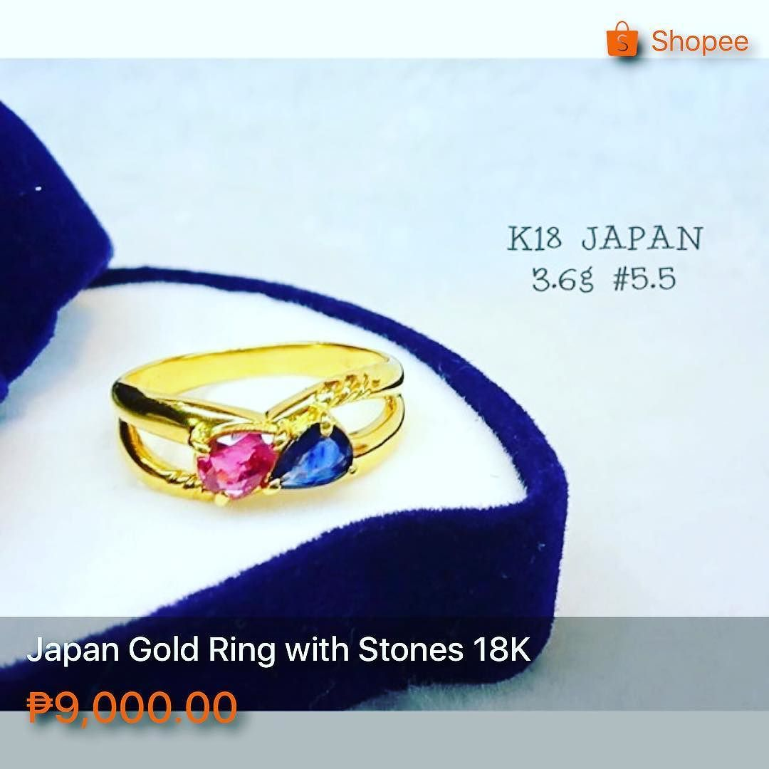 Japan Gold Ring with Stones 18K Size 55 36 grams Great investment
