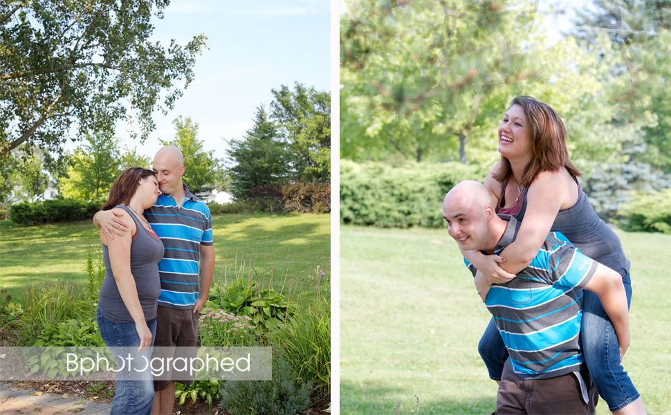 romantic and fun summer engagement