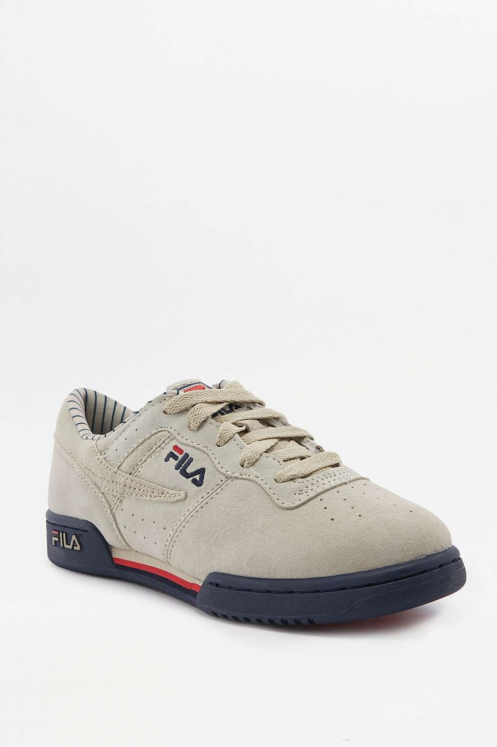 FILA Original Fitness Off-White Pinstripe Trainers