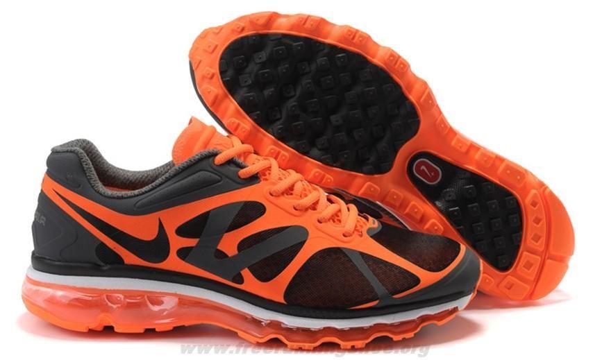 Cheap 487982-008 Mens Nike Air Max 2012 Black Orange 2014 Free S ... 76fb390a6a
