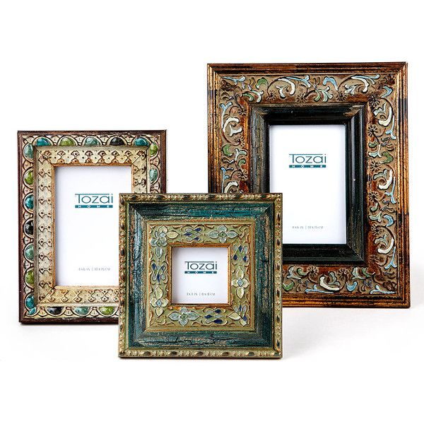 Two\'s Company/Tozai Home Bohemian Antiqued Photo Frames - Set of 3 ...