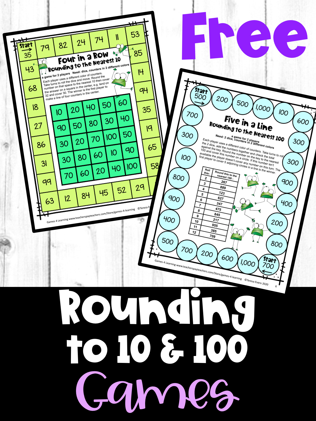 Free Rounding To 10 And 100 Games In