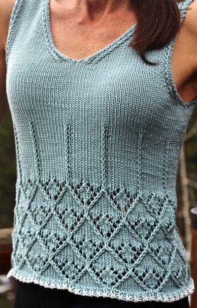 Fifty Fifty Tank Knitty Springsummer Spring Summer Lookbook