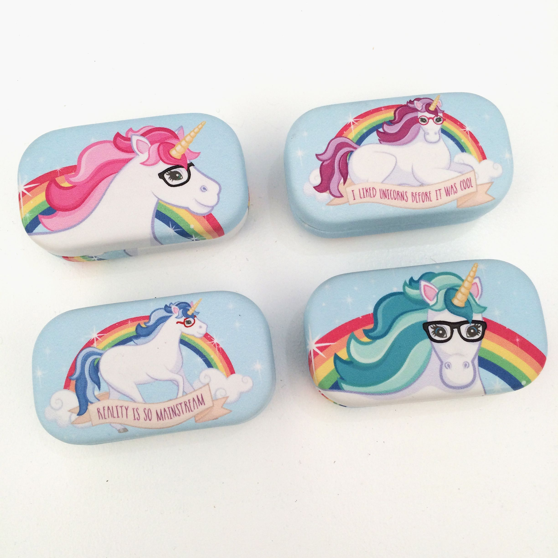 Estuche para lentillas con dise o de unicornio unicornio - Estuche para lentillas ...