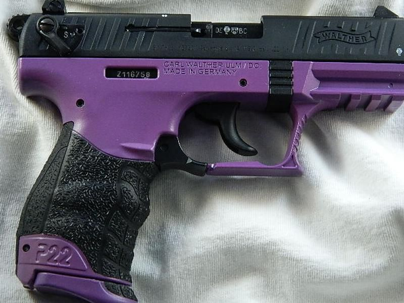 walther pink p22 walther p22q 22 lr 3 4 purple cool stuff